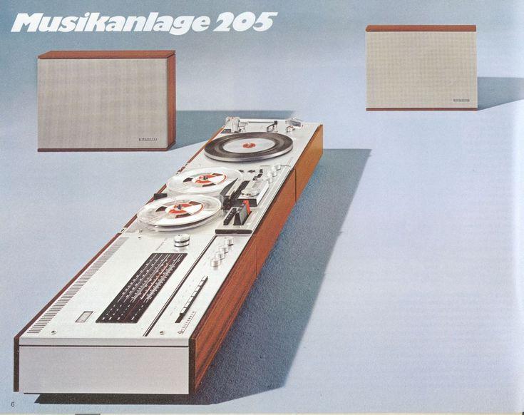 telefunken hifi musikanlage 205 1972 des graphic design stuff pinterest. Black Bedroom Furniture Sets. Home Design Ideas