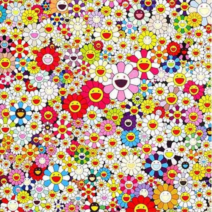 flowers in heaven by Takashi Murakami Murakami flower