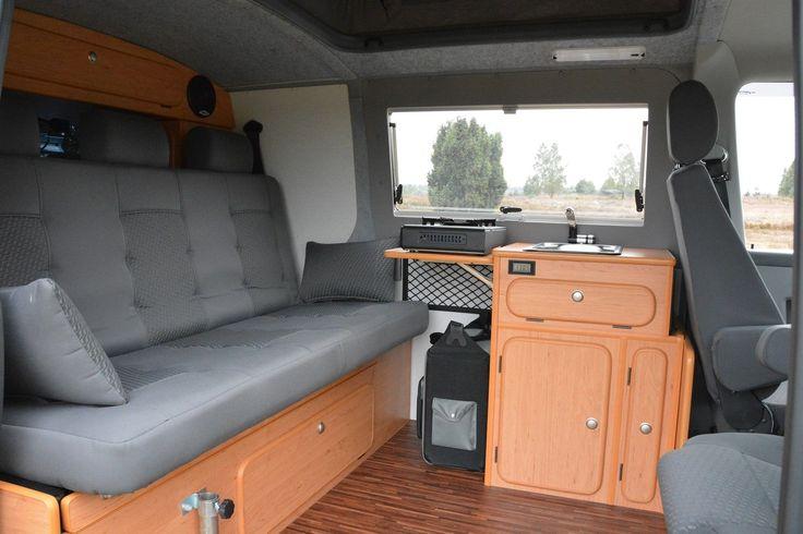 VW Bus T 5 Klappsitzschlafbank mit Kopfstützen neu !!!! Sitz Schlafbank für WOMO | eBay