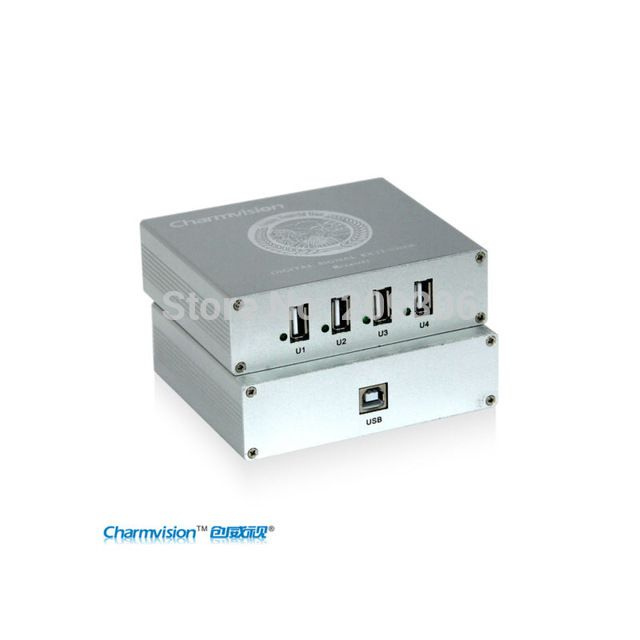 Charmvision EU254P 150 meters USB extender support USB2.0 protocol 4 ports with power adapter via UTP CAT5E CAT6 cable US $288.00 /piece To Buy Or See Another Product Click On This Link  http://goo.gl/EuGwiH