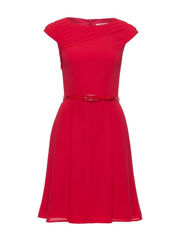 Review Australia | Lorena Dress Poppy $269.99 Colour: Poppy Add a pop of red to your wardrobe with the stunning Lorena Dress. Featuring a pleated asymmetrical neckline and pleated cap sleeves with a matching belt. Add some cute flats or heels and you're away! Length: 95cm approx.