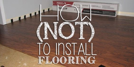 """Pin this to your Home Improvement board! """"oh, it's so easy!"""" That is what I heard over and over about installing laminate flooring. I guess if you were the average person it would be pretty simple. But I am apparently not the average person. So instead of telling you how to install flooring, I am …"""