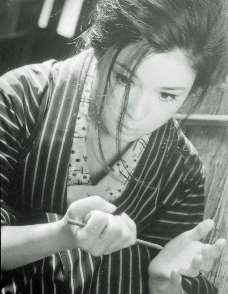 """From """"Seisaku's Wife."""" Masumura directs. Ayako Wakao, 1965."""