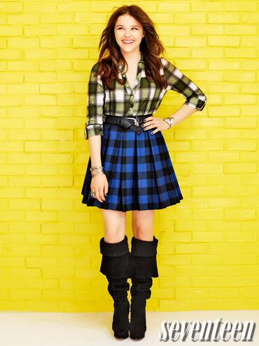 How to rock plaid just like Chloe Moretz!
