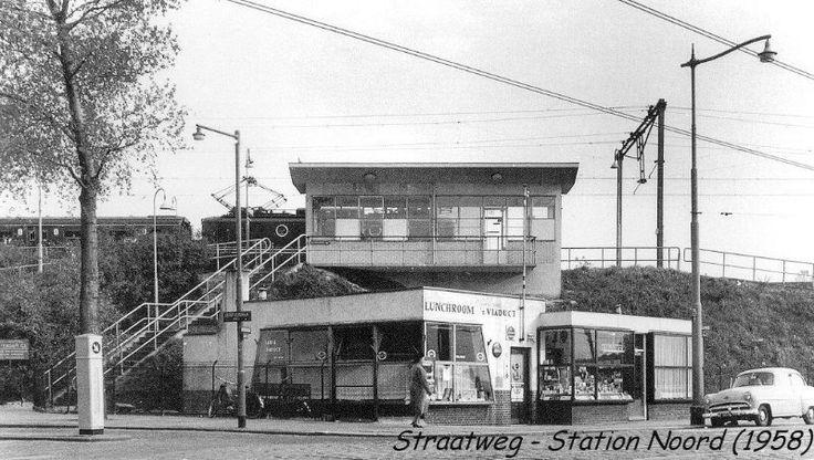 Rotterdam - Straatweg, Station Noord, 1958