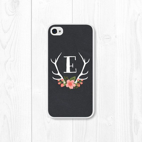 Coral Peach Monogram Floral iPhone Case  iPhone 4 / by fieldtrip, $22.00