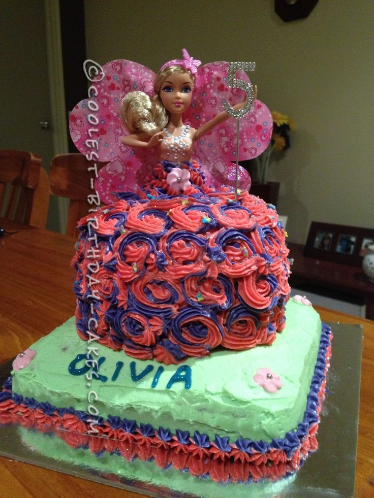 Olivia s 5th Birthday Barbie Doll Cake
