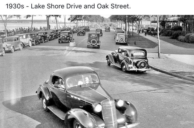 Oak Street and Lake Shore Drive, 1930's