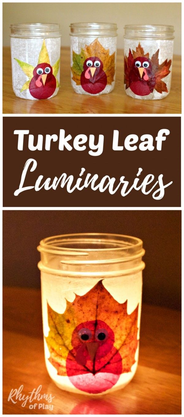 How to make recycled fall leaves luminaries