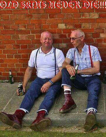 Oi! #skinhead never die, they just get older!