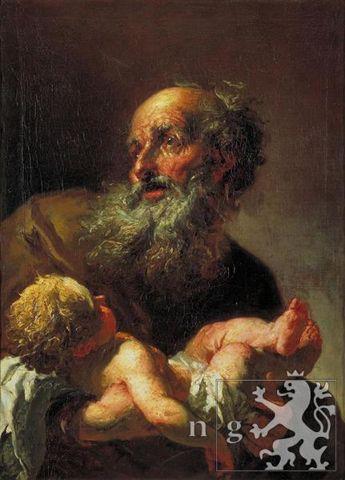 Petr Brandl, Siméon et l'enfant Jésus, après 1725, huile sur toile, Galerie Nationale de Prague. © Narodní Galerie Praha