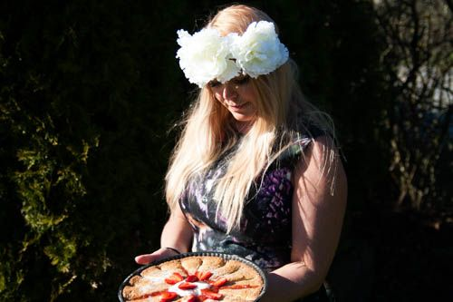 Finnish Girl- summer- rhubarb pie