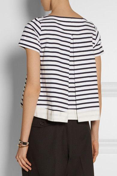 Sacai Luck striped cotton jersey t-shirt