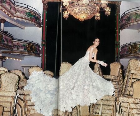 LEILA HAFZI Faitytale Couture gown in Brides US December 2012 issue