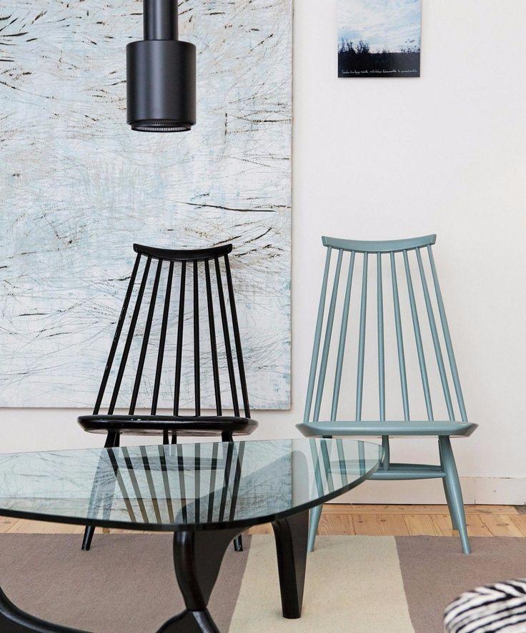 Artek Mademoiselle Design Sessel massive Birke schwarz Ilamri Tapiovaara in Möbel & Wohnen, Möbel, Stühle | eBay