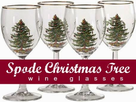 Spode Christmas Tree Wine Glasses and Accessories