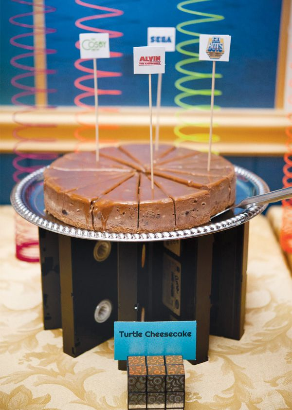vhs-tape-cake-stand