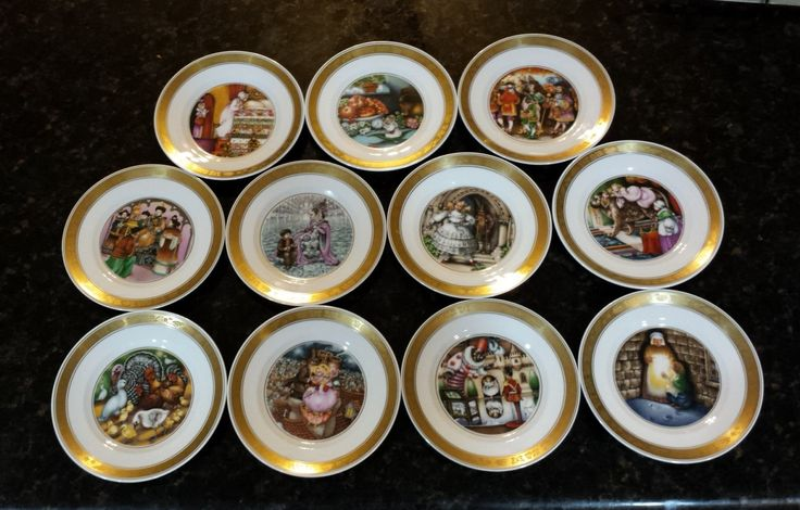 Royal Copenhagen Hans Christian Anderson Plates with BOOK and COA set of 11 by KatsVintageTreasures on Etsy