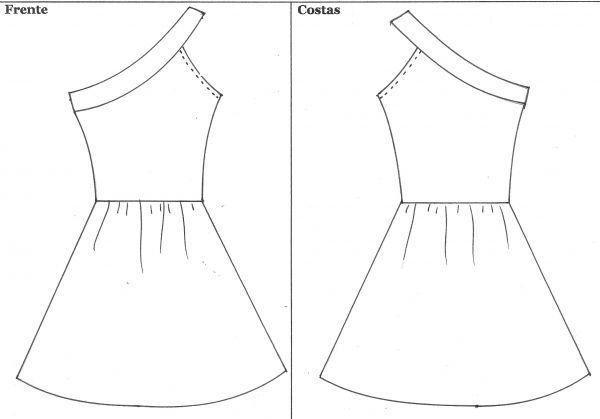 moldes de roupas femininas vestidos