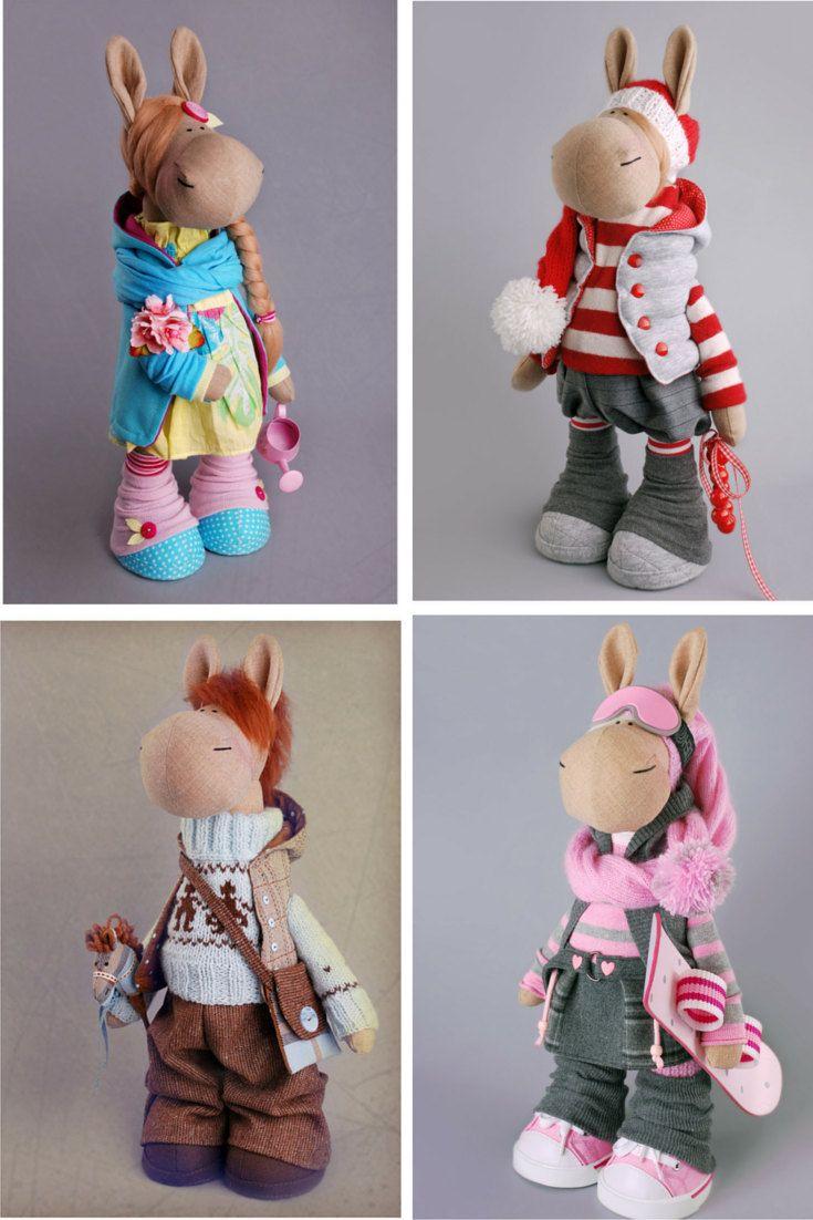 Horse doll Tilda doll Spring doll Art doll by AnnKirillartPlace