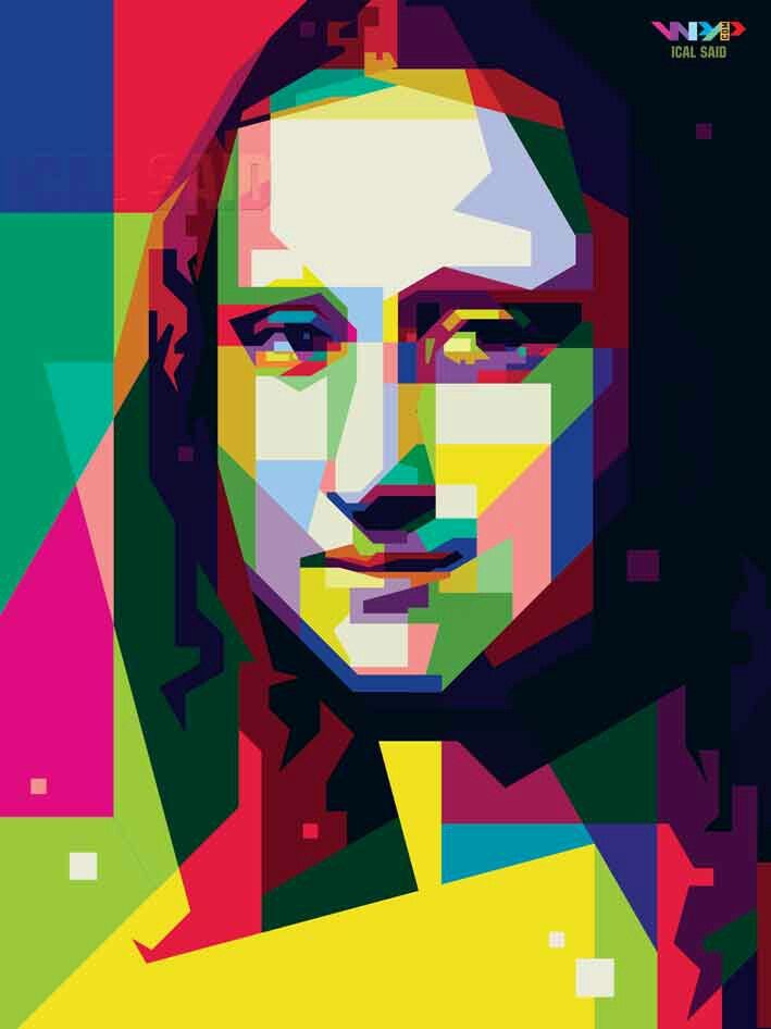 Portrait of Monalisa in WPAP