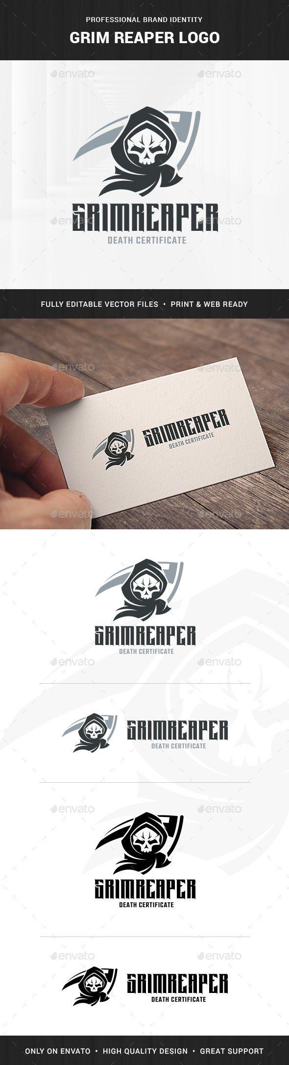 Grim Reaper Logo Template — Transparent PNG #black #evil • Available here → https://graphicriver.net/item/grim-reaper-logo-template/18012476?ref=pxcr