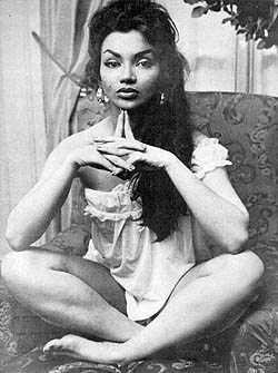 Chelo Alonso former Cuban actress, dancer and sex-symbol (1933) was a star in the Italian cinema of the late 1950's and early 1960's. She played femme fatales with fiery tempers and danced to Afro-Cuban rhythms. She appeared in some American Films as well.:
