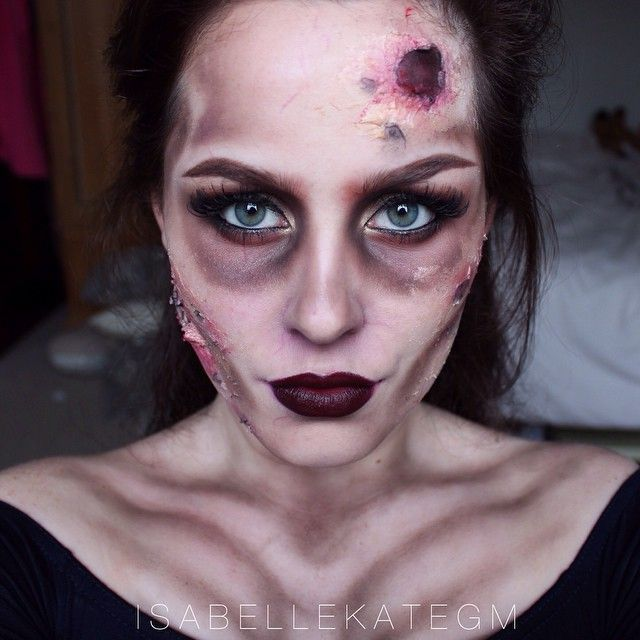 Zombie makeup inspired by @desimakeup's 'zombie flapper' look ~ so so happy… More