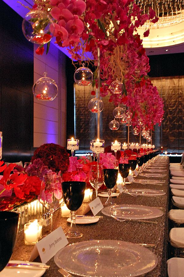 gorgeous - S: Decor, Oriental Hotels, Hanging Candles, New York Cities, Hotels Management, Colors, Hanging Flowers, Hanging Glasses, Centerpieces