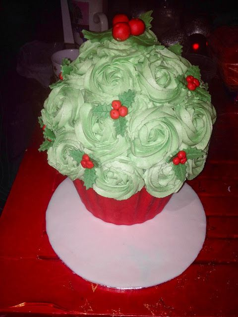 sabsy's cake dreams: Kerst cupcake
