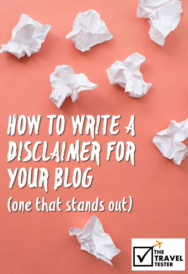How to write a disclaimer for your blog: One that stands out | The Travel Tester