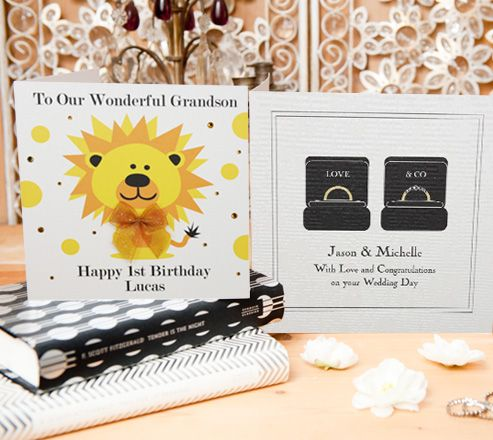 Cards for Kids and cards for Weddings. http://www.fivedollarshakepersonalise.com/
