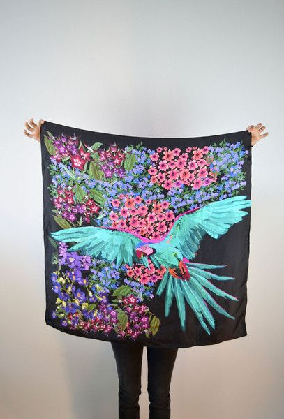 Parrot Square Scarf.