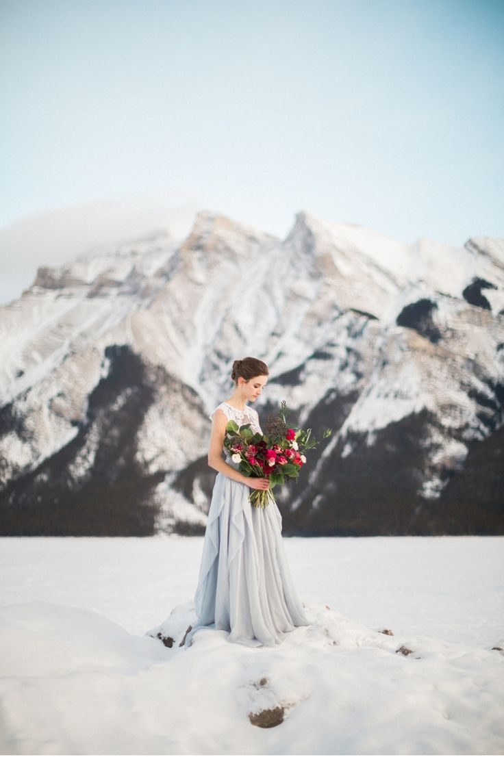 Icy Rocky Mountain Bridal Style