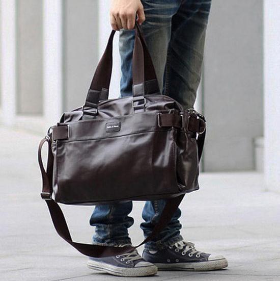 Молодежная Мода Новый Многофункциональный Мужская сумка PU + кожа Дорожные Сумки Бренда Водонепроницаемый Высокой емкости Сумки Случайные мужская сумка