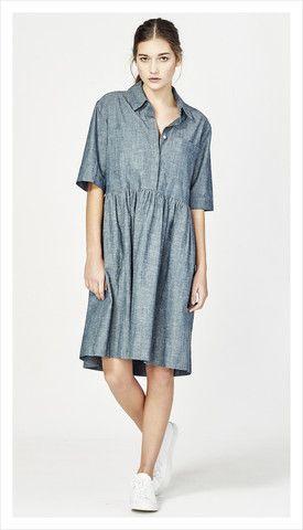 camille shirt dress (chambray)