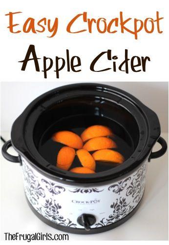 Easy Crockpot Apple Cider Recipe at TheFrugalGirls.com