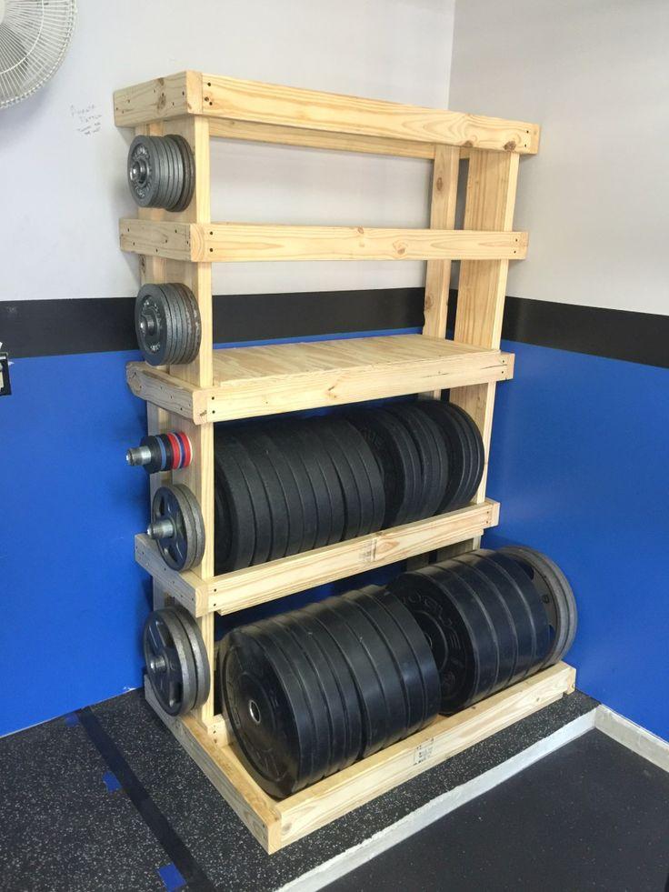 DIY - Custom Garage Gym Weights Rack