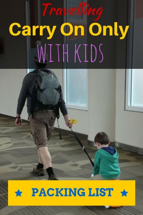 Carry On Only Family Packing List - the ultimate packing list for family vacations http://www.wheressharon.com/discussion/family-packing-list-carry-on-only/