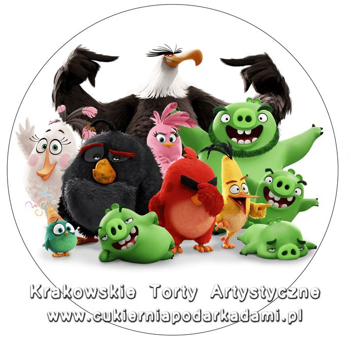 082. Fototort z Angry Birds. Angry Birds movie photocake.