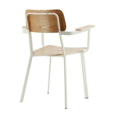 25 beste idee n over witte eetkamer stoelen op pinterest for Witte eetkamerstoelen met armleuning