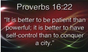 Patience & Self-Control.