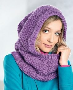 Hooded Cowl - Free Knitting Patterns - Accessories - Let's Knit Magazine