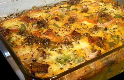 Pizza Toppings Casserole (read through past the original recipe and you will see that she has an updated note with an alternate way to make this along with the updated nutritional information)