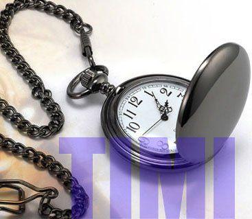 Обычная Полированной Black Antique мужская Карманные Часы Antique