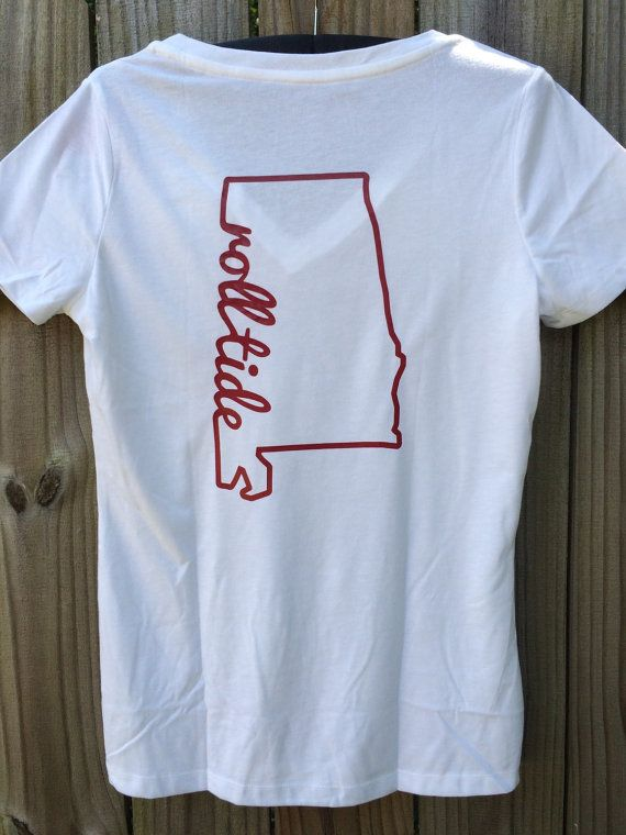 Roll Tide Shirt Alabama tshirt Alabama by DesignsbysouthernEdg
