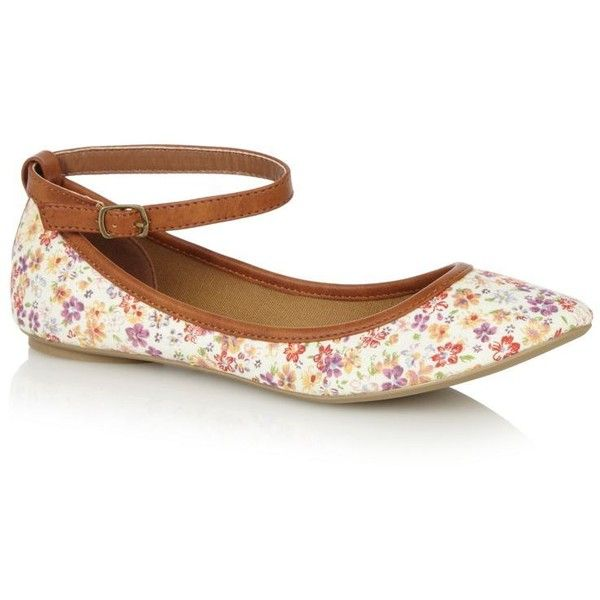 Tan Lewisporte floral ballet pumps and other apparel, accessories and trends. Browse and shop related looks.