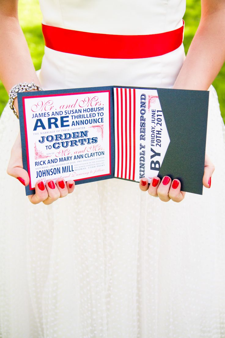 10 Best July 4th Wedding Invitation Images On Pinterest July