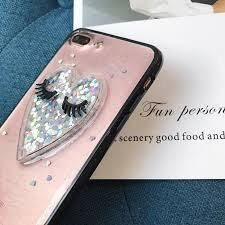 Glitter Heart with Lashes iPhone Phone Case