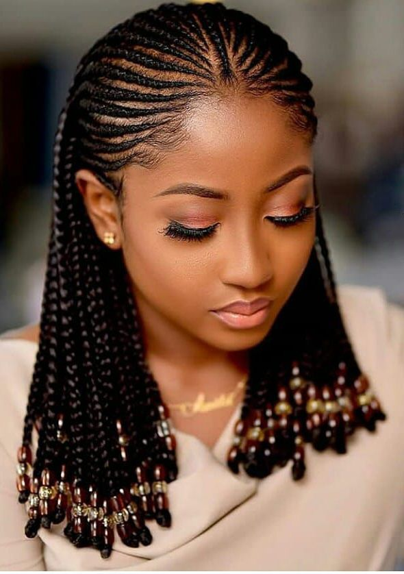 40 Seductive Ways To Wear Ghana Braids Curly Craze In 2020 Braided Hairstyles African Hair Braiding Styles Black Girl Braided Hairstyles